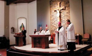 New Church, Cunningham, Consecrates Altar